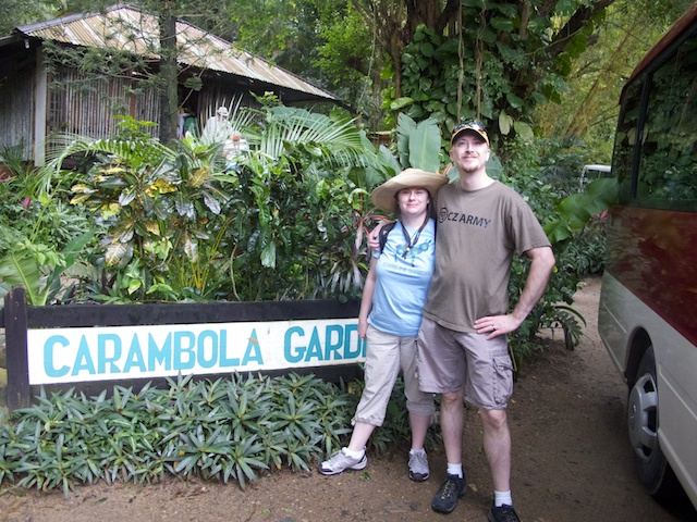 Heather and I at the Carambola Botanical Garden
