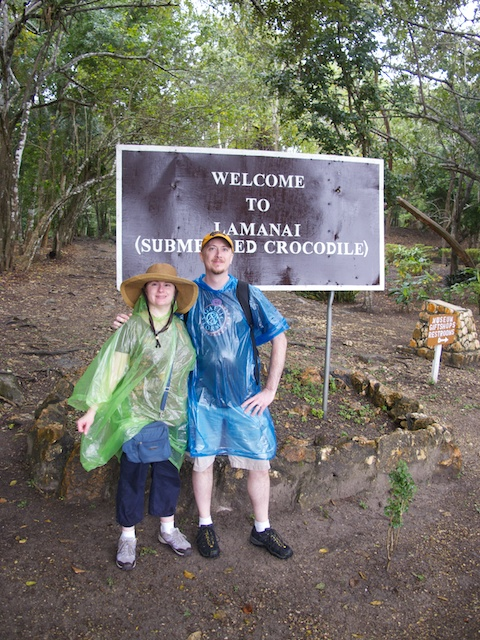 Us at the entrance to the site.