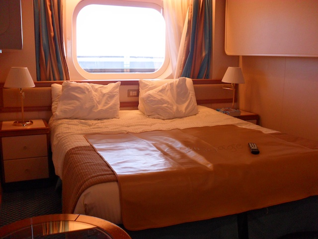 This was our cabin on the Crown Princess