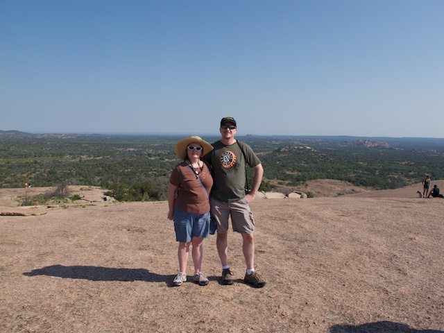 Heather and me at the top of Enchanted Rock