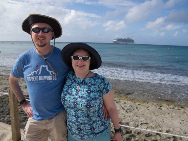Heather and I on Princess Cays during our Christmas cruise